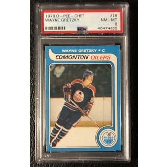 1979/80 O-Pee-Chee Wayne Gretzky PSA 8 card #18