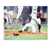 Ken Griffey Jr Seatlle Mariners UDA Autographed Sliding 16 x 20 Photo LE /50