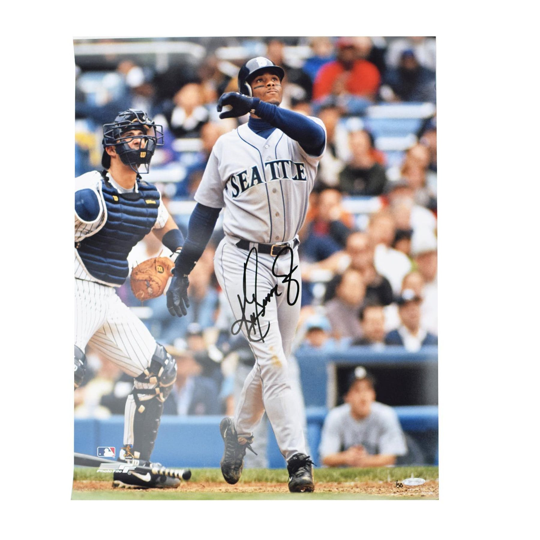 sneakers for cheap c4a84 1c8eb Ken Griffey Jr Seatlle Mariners UDA Autographed Stadium 16 x 20 Photo LE /50