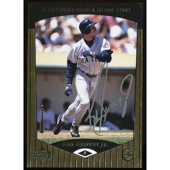 1998 Upper Deck Ken Griffey Jr Autographed Most Memorable HR's Insert Card #4/10