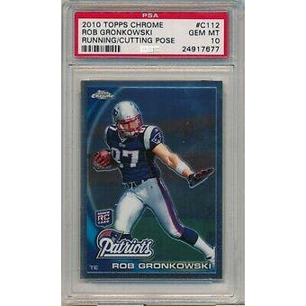 2010 Topps Chrome Rob Gronkowski PSA 10 card #C112