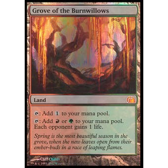 Magic the Gathering FTV Realms Single Grove of the Burnwillows FOIL - NEAR MINT (NM)