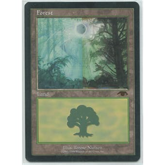 Magic the Gathering Promo Single GURU Forest - SLIGHT PLAY plus (SP+)
