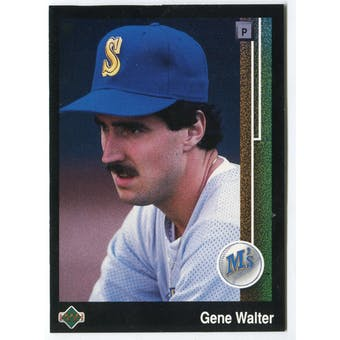 1989 Upper Deck Gene Walter Seattle Mariners Blank Back Black Border Proof