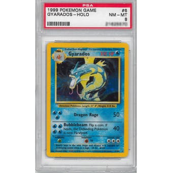 Pokemon Base Set Unlimited Gyarados 6/102 PSA 8