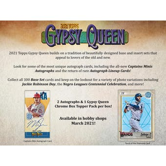 2021 Topps Gypsy Queen Baseball Hobby Box (Presell)