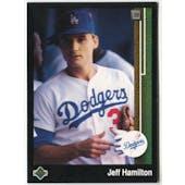 1989 Upper Deck Jeff Hamilton Los Angeles Dodgers #615 Black Border Proof