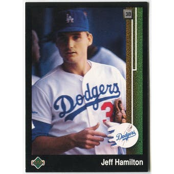 1989 Upper Deck Jeff Hamilton Los Angeles Dodgers #615 Black Border Proof