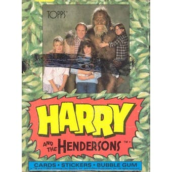 Harry and the Hendersons Wax Box (1987 Topps)