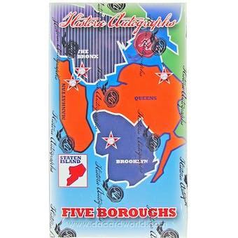 2013 Historic Autograph Five Boroughs Baseball Hobby Box