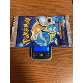 Pokemon Base Set 1st Edition Booster Pack - Blastoise Art 21.18 g weight HEAVY
