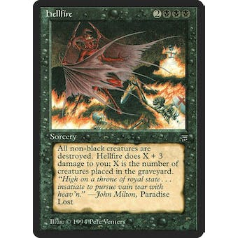 Magic the Gathering Legends Single Hellfire - MODERATE PLAY plus (MP+)