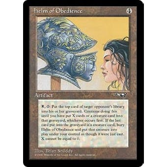 Magic the Gathering Alliances Single Helm of Obedience - MODERATE PLAY (MP)