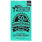 2019 Topps Heritage Baseball 50th Anniversary Topper Pack
