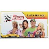 2018 Topps WWE Heritage Wrestling Hobby Box
