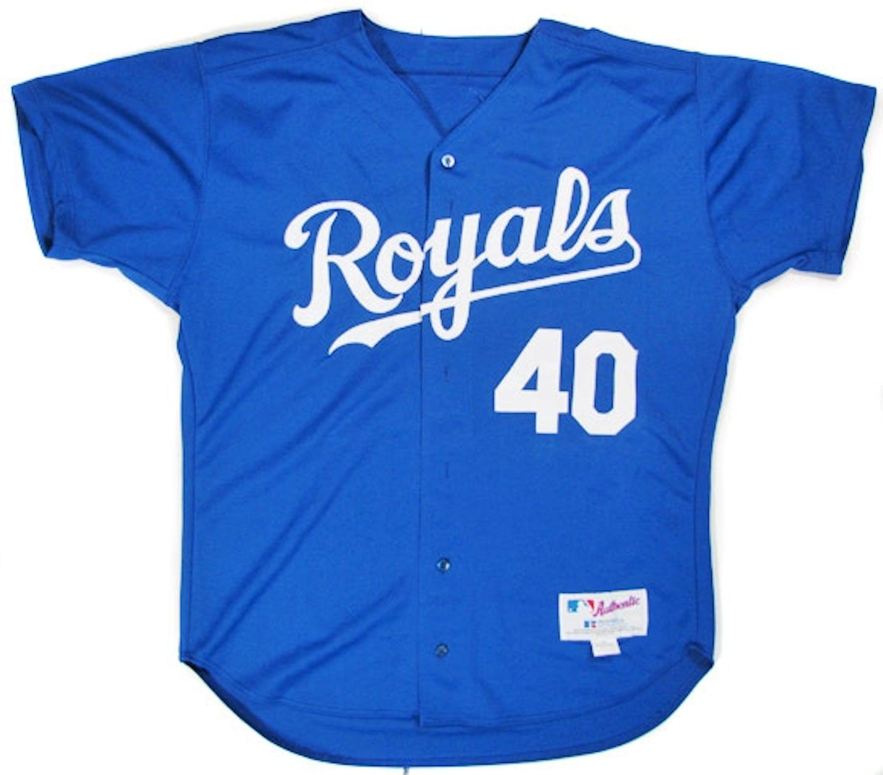 Runelvys Hernandez Autographed Game Worn K.C. Royals Jersey (Blue) 1d78367e7