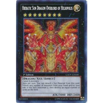 Yu-Gi-Oh Galactic Overlord Single Hieratic Sun Dragon Overlord of Heliopolis Secret Rare