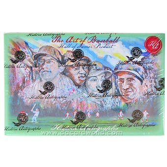 2013 Historic Autograph Art of Baseball Hobby Box