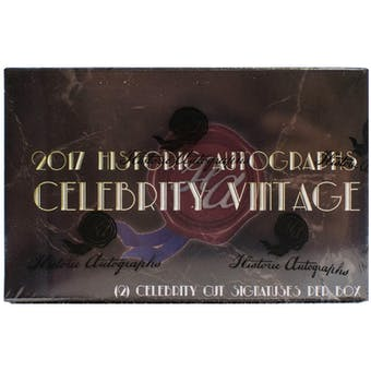 2017 Historic Autograph Celebrity Vintage Hobby Box