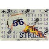 2019 Historic Autographs The Streak Baseball Hobby Box
