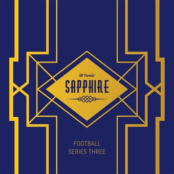 2020 Hit Parade Football Sapphire Edition Series 4 Hobby Box /50 Brady-Kyler-Brees