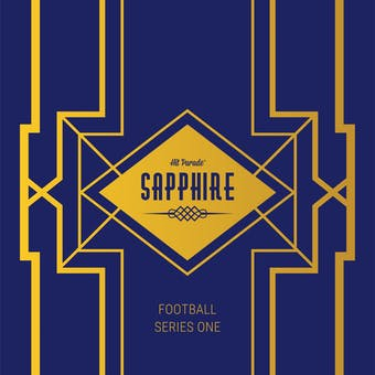2019 Hit Parade Football Sapphire Edition Series 1 Hobby Box /50 Mahomes-Brady-Rodgers