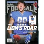 2019 Beckett Football Monthly Price Guide (#343 August) (T.J. Hockenson)