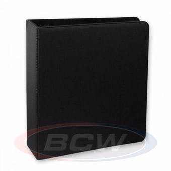"BCW 3"" Black Premium Hockey Card Collectors Album"