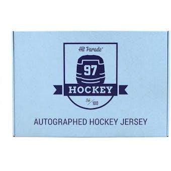 2019/20 Hit Parade Autographed Hockey Jersey Hobby Box - Series 5 - A. Matthews, B. Orr, & A. Ovechkin!!
