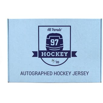 2020/21 Hit Parade Autographed OFFICIALLY LICENSED Hockey Jersey - Series 2 - 10- Box Hobby Case - Lemieux!