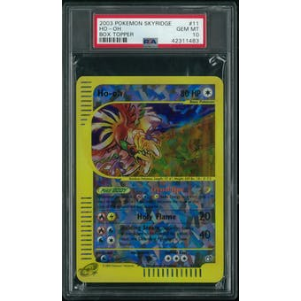 Pokemon Skyridge Ho-Oh Box Topper 11/12 PSA 10 GEM MINT