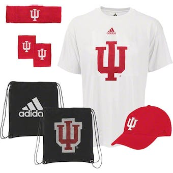 Indiana University Hoosiers Adidas Pick-Up Game 5-Piece Combo Pack (Adult L)