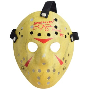 Friday the 13th Jason Voorhees Mask Autographed by C.J. Graham