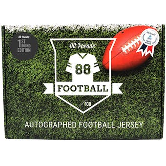 2021 Hit Parade Autographed 1st ROUND EDITION Football Jersey - Series 3 - Hobby Box - Rodgers & Allen!!