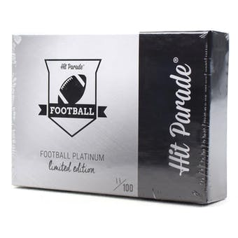 2019 Hit Parade Football Platinum Limited Edition Series 2 Case- Dacw Live 10 Spot Random Card Break #1