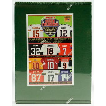 2021 TriStar Game Day Greats Autographed Jersey Edition Football Hobby 5-Box Case