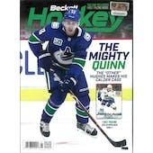 2020 Beckett Hockey Monthly Price Guide (#329 January) (Quinn Hughes)