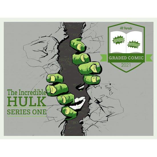 2021 Hit Parade The Incredible Hulk Graded Comic Edition Hobby Box - Series 1 - HULK #181 Sig Series!