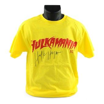 Hulk Hogan Autographed Hulkamania Medium T-shirt WWE (DA COA)