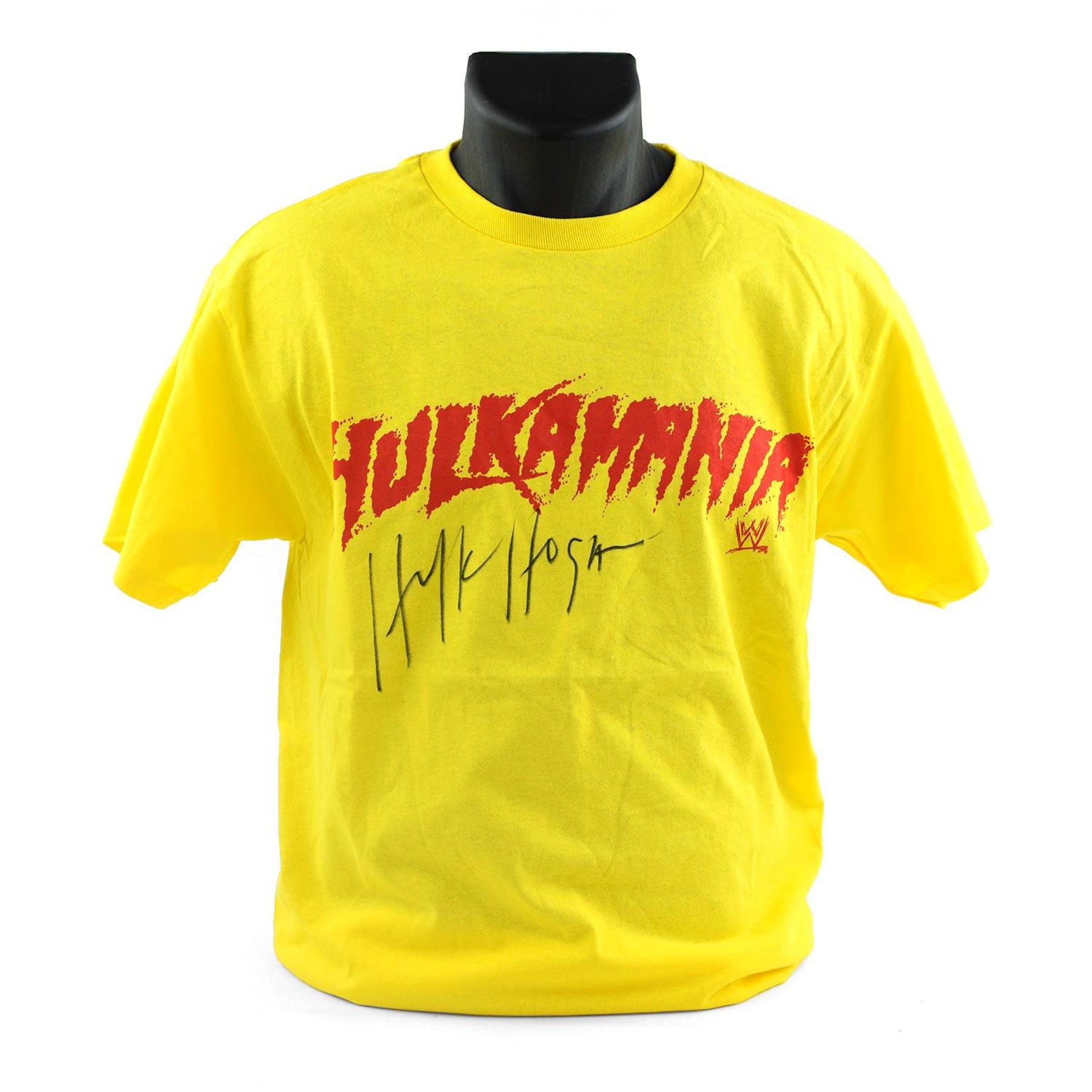 ce430588ff Hulk Hogan Autographed Hulkamania T-shirt WWE | DA Card World