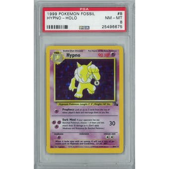 Pokemon Fossil Hypno 8/62 PSA 8