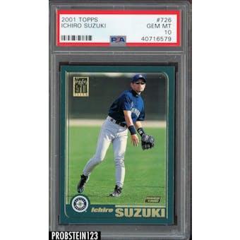 2001 Topps Ichiro PSA 10 card #726