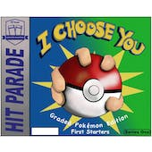 """2021 Hit Parade Pokemon """"I Choose You - First Starters"""" Series 1 Hobby Box"""