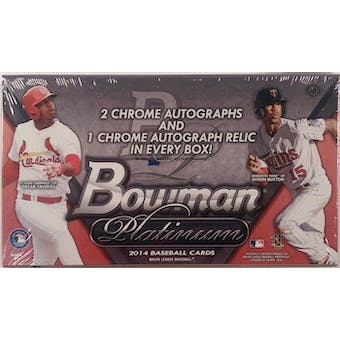 2014 Bowman Platinum Baseball Hobby Box