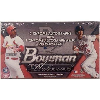 2014 Bowman Platinum Baseball Hobby Box