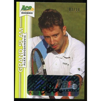 2013 Leaf Ace Authentic Grand Slam Yellow #BAAB1 Alex Bogdanovic Autograph 3/10