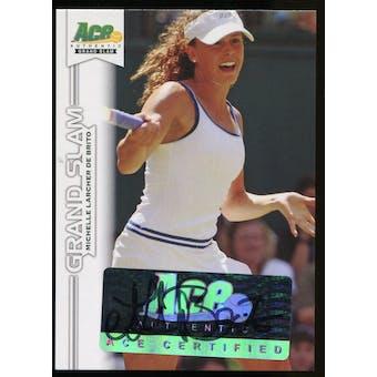 2013 Leaf Ace Authentic Grand Slam #BAMLB Michelle Larcher de Brito Autograph