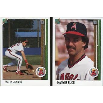 1988 Upper Deck Baseball Wally Joyner #700 and DeWayne Buice #1 2 Card Promo Set A Rare!!!