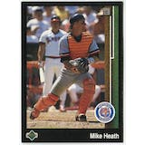 1989 Upper Deck Mike Heath Detroit Tigers #654 Black Border Proof