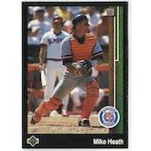 1989 Upper Deck Mike Heath Detroit Tigers #654 Black Border Proof